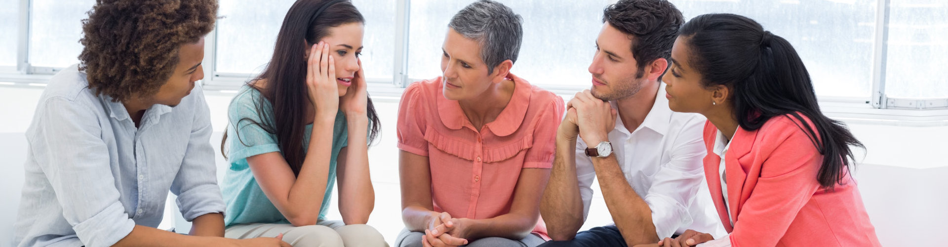 psychiatrist having group counseling