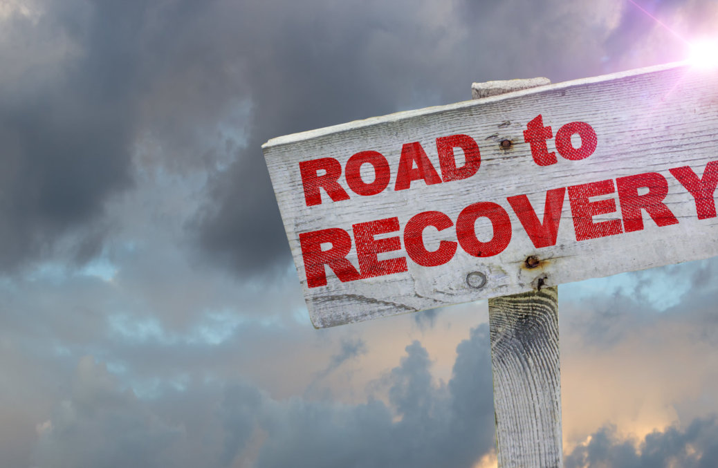 road to recovery sign board